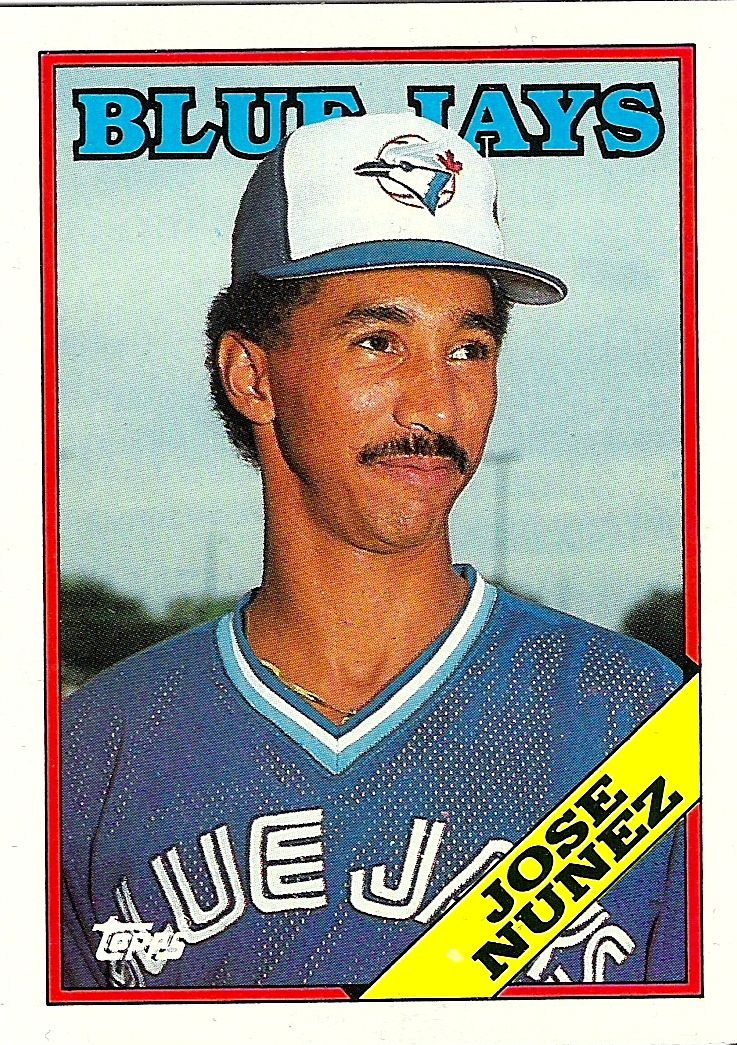 WTF – <b>Jose Nunez</b> at the Bat - 1988topps-josenunez