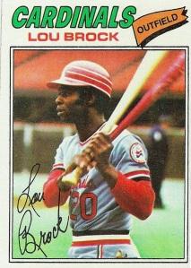 1977 Topps - Lou Brock